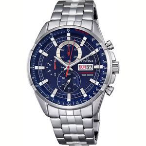 【送料無料】orologio festina timeless uomo 10 atm blu f68443
