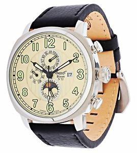 【送料無料】ingersoll bison 52 in1505cr automatic watch leather analog , rrp 250