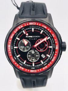 【送料無料】orologio momodesign made in italy md2164bk41 pilot 596 scontatissimo nuovo
