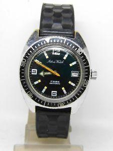 【送料無料】montre de plonge astree watch mouvement fe 1401 skin diver 1970
