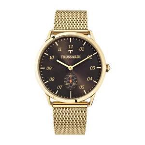orologio multifunzione uomo trussardi tworld r2453116001 oro giallo originale