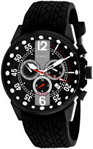 roberto bianci mens messina chrono 100m stainless steelrubber watch rb70985
