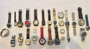 lot of 25 men amp; womens quartz wristwatches some working, some not 7