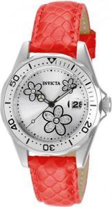 【送料無料】 womens invicta 12513 pro diver red leather watch