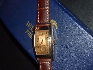 【送料無料】exquisite*deco waltham premier mens*rose gold plate*wollaston*1941*9j*boxpaper
