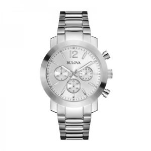 【送料無料】 hot bulova 96a167 mens chronograph watch with stainless steel bracelet