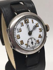 【送料無料】icers vintage trench ww1 sterling silver large wrist watch 1915 swiss pin set