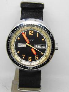 【送料無料】montre de plonge automatique lov mouvement fe 3612 diver watch