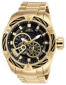 【送料無料】26775 invicta 52mm mens bolt automatic goldtone stainless steel watch