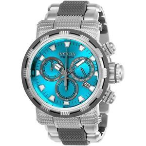 mens invicta 48mm capsule chronograph bracelet watch 23990