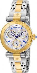 【送料無料】invicta womens subaqua chrono quartz 100m two tone stainless steel watch 24464