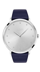 【送料無料】boss jillian damenuhr 1502410 analog leder dunkelblau