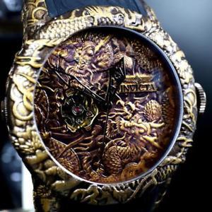 invicta empire dragon brown copper bronze automatic 50mm sapphire watch