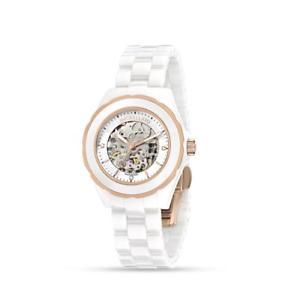 orologio automatico morellato siena r0153116507 bracciale ceramica bianco ros
