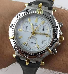【送料無料】orologio bulova chronograph 243 075 rattrapante 40mm watch eta corona a vite nos