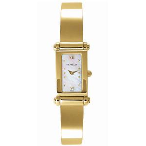 michel herbelin womens goldtone steel bracelet amp; case quartz watch 1048mp19