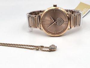 【送料無料】 michael kors womens rose gold stainless steel watch with bracelet mk3827