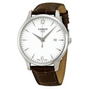 【送料無料】tissot gents tclassic tradition watch t0636101603700 brown rrp 220