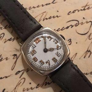 【送料無料】icers trench military wrist watch london import silver lieutenant h sims