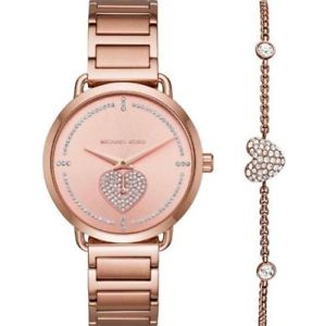 michael kors womens rose gold stainless steel watch with bracelet mk3827