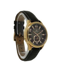 【送料無料】bulova 97l113 womens round analog brown mother of pearl leather watch