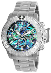 【送料無料】invicta mens subaqua quartz chronograph 300m stainless steel watch 25097