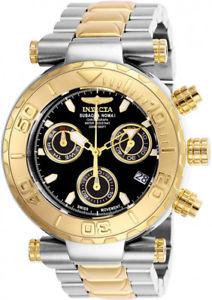 【送料無料】invicta mens subaqua quartz chronograph 200m two tone s steel watch 25803