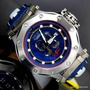 【送料無料】invicta jason taylor jt hall of fame blue mop leather 52mm automatic watch