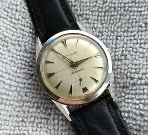【送料無料】wittnauer by longines vintage automatic watch, sub seconds, stainless steel