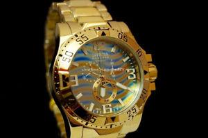 invicta 15976 reserve excursion swiss made chronograph 18k ip sl steel watch