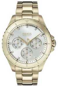 【送料無料】hugo boss womens premiere gold plated bracelet 1502445 watch 19