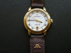 maurice lacroix swiss automatic gold plated date 25 jewels working wrist watch