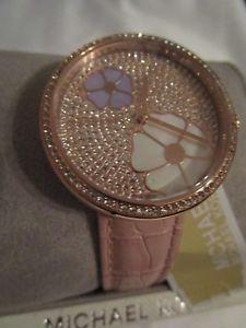 【送料無料】250 michael kors authentic mk2718 courtney floral pave 36mm ladies glizty watch