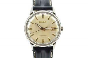 【送料無料】vintage bulova classic stainless steel hand winding midsize watch 1006