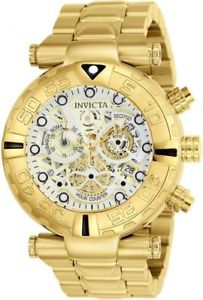24990 invicta 47mm  mens subaqua noma chronograph gold tone bracelet watch