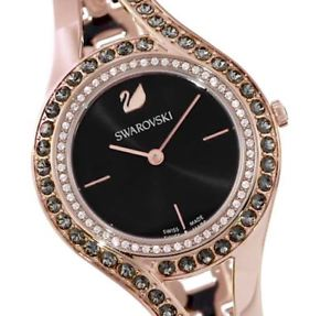 swarovski eternal watch 5377551 dark grey rose gold tone  2 y warranty