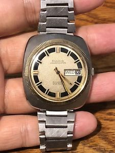 【送料無料】vintage bulova daydate 333 ft automatic men watchrun