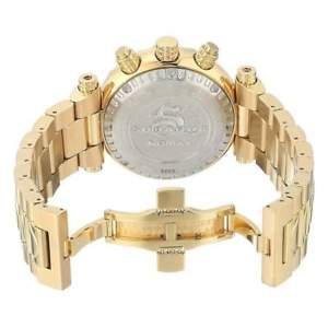 24990 invicta 47mm  mens subaqua noma chronograph gold tone bracelet watch