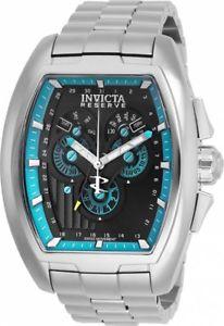 【送料無料】invicta mens reserve quartz chrono 100m stainless steel watch 27053