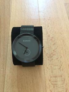 【送料無料】domeni co grey signature series in milanese mesh watch