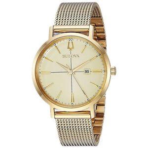 【送料無料】bulova 97m115 womens classic gold tone wristwatch