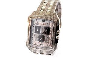 【送料無料】mens wittnauer 10b012 krystal stainless swarovski crystal chronograph date watch