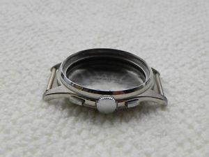 cassa in acciaio inox valjoux 72 case watch chronograph steel r72 boitier nos