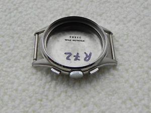 【送料無料】cassa in acciaio inox valjoux 72 case watch chronograph steel r72 boitier nos