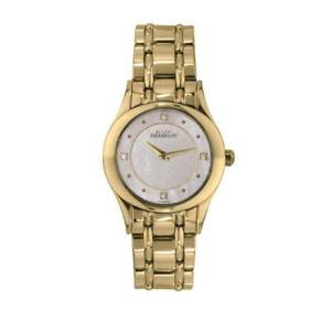 【送料無料】michel herbelin womens 30mm steel bracelet amp; case quartz watch 17227bp59