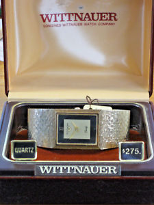【送料無料】longineswittnauer vintage quartz mens gold wrist watch w box amp; fresh battery