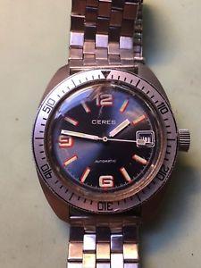 【送料無料】montre vintage cres skin diver automatic fe 3611 200m date boitier jaz acier 36