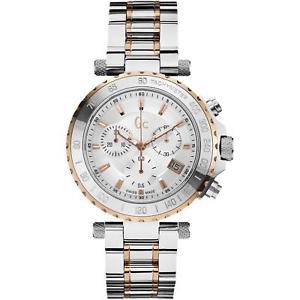 【送料無料】guess collection watch chronograph gc diver chic 2 tone gold x58002g1s swiss
