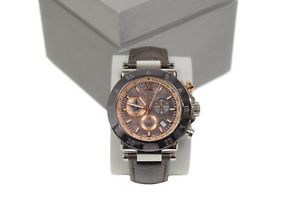 【送料無料】gc x90019g4s mens sport chic gc1 brown strap tachtmetre watch by guess
