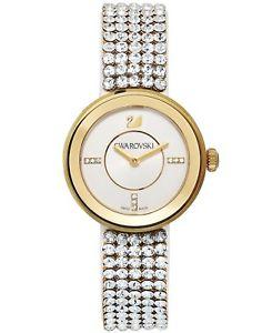 【送料無料】brand swarovski 1194086 swiss piazza mini glitz mesh strap gold tone watch